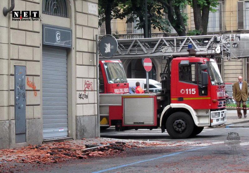 Место пожара в Турине
