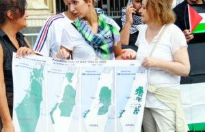 Группа активистов в Турине против Израиля