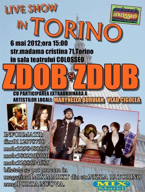 Moldoveni in Italia Live Show in Torino Zdob si Zdub