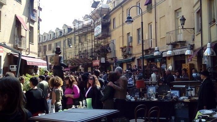 Самый большой рынок в Турине
