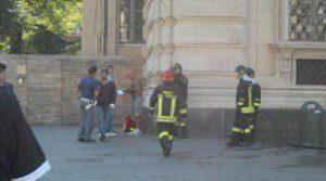 Акты самосожжения в Турине Италия.