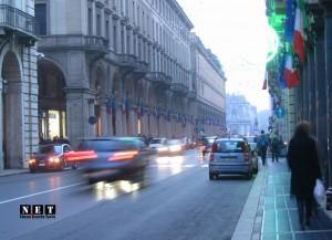 Турин ПЬемонте улица Roma в центре