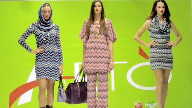 Выставка ремесленников ARTO в Турине с показом мод.