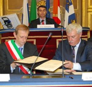 Губернатор Санкт Петербурга и мэр Турина договор