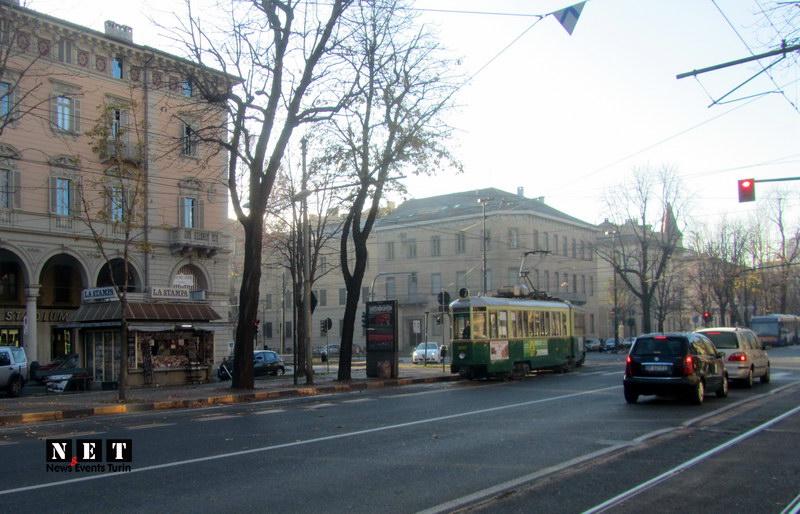 Турин центр старый трамвай фотографии с улиц