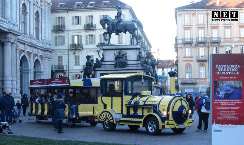 Рождественский паровозик Турин с детьми и для детей