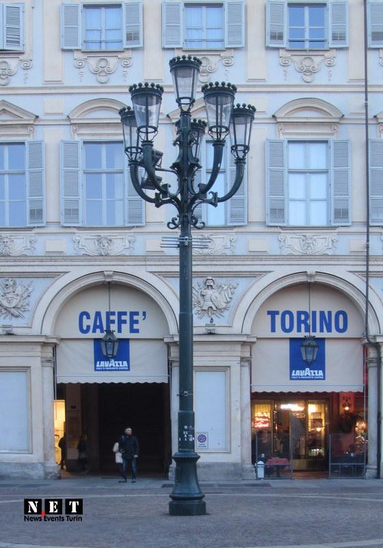 Бар Торино площадь Сан Карло Турин готовится к Рождеству и Новому году