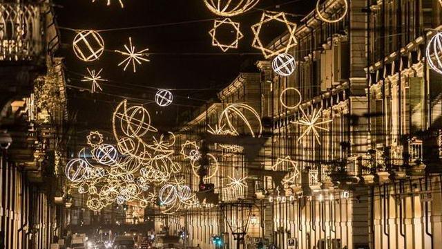 Художественные огни в Турине Luci d'Artista