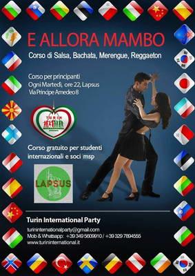 Бесплатные курсы латиноамериканского танца в Турине