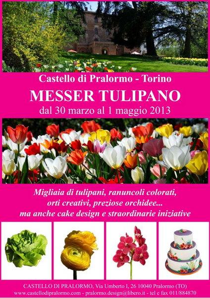 Выставка тюльпанов Италия Турин