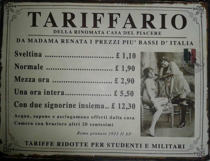 История проституции Италии Турин