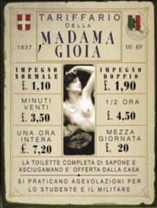 Проститутки Турина и дома терпимости в Италии Когда публичные дома были открыты в Турине: немного истории
