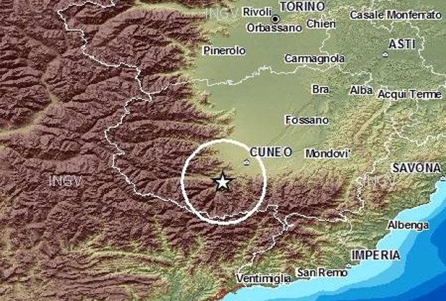Смотреть карту землетрясений Пеьмонта