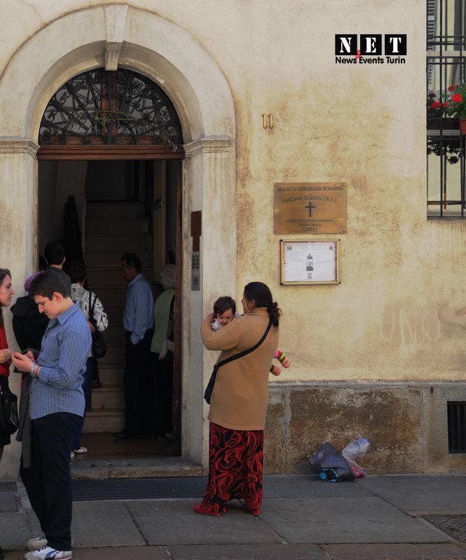 Вход в румынскую церковь Турина