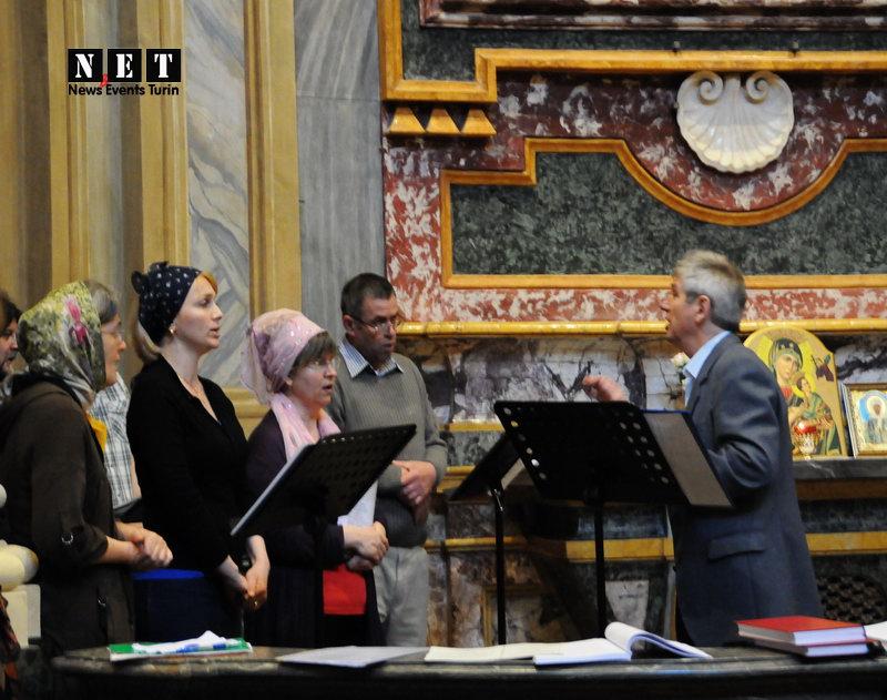 Церковный хор молдавской церкви Турине