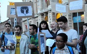 Манифестация турков в турине