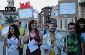 Турин в протестах турок