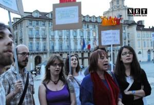 Акции протеста турок в Турине