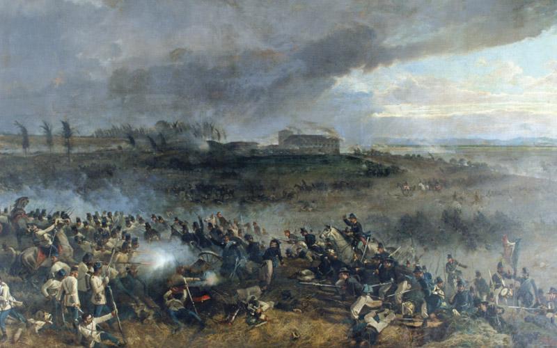 Инсценировка старинной битвы в Турине