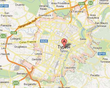 Карта Турин Италия
