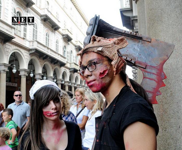 ZombieWalk Torino Italia 2013 Парад Зомби в Турине 2013