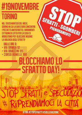 Против выселения из квартир в Турине