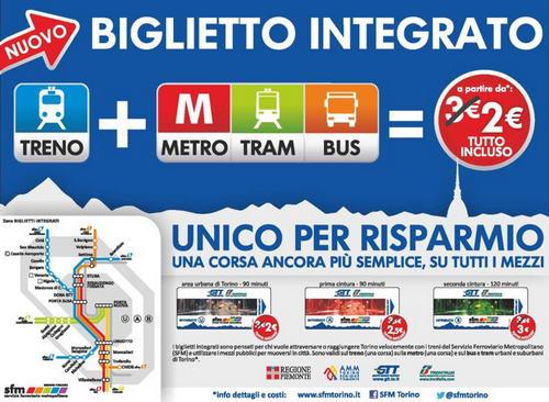 biglietti integrati torino Билет общественный транспорт Турина
