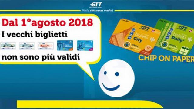 Новый билет общественный транспорт Турина