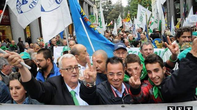Lega Nord в Турине протест против иммиграции