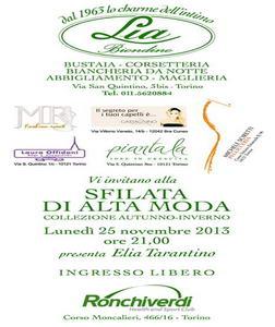 sfilata di alta moda collezione autunno inverno torino События Турина ноябрь 2013 года