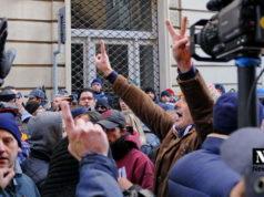 Массовая забастовка в Турине Италия