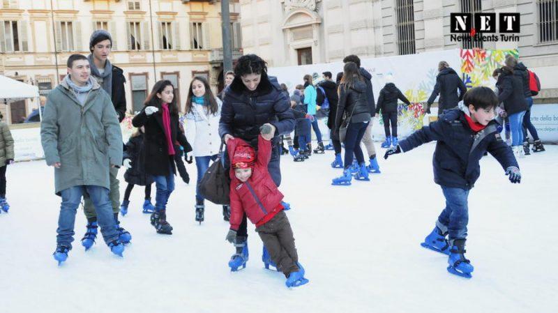 Ледовый каток в Турине покататься на коньках Пьемонт