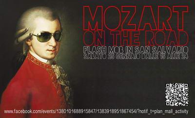 Flash mob Моцарт в Турине