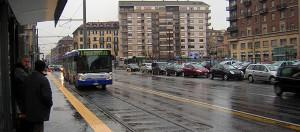 Забастовка транспорта Турин Италия