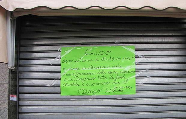 Закрытие магазинов в Европе Италия