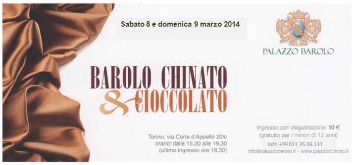 Barolo Chinato cioccolato Torino