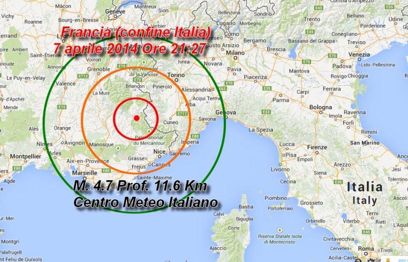 Francia Italia Terremoto 2014
