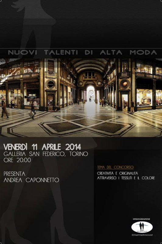 Nuovi talenti di alta moda Torino Турин в апреле 2014