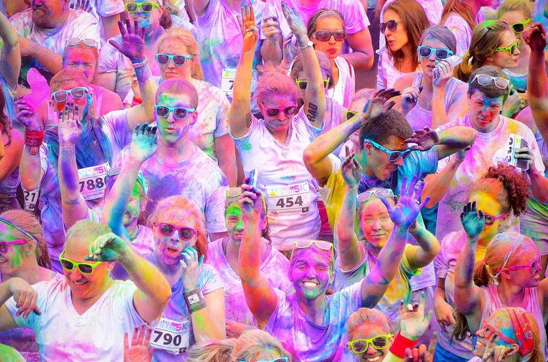 Цветной марафон в Италии - Torino Color Run