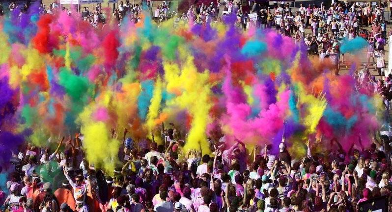 Цветной марафон в Италии - Torino Color Run 2014