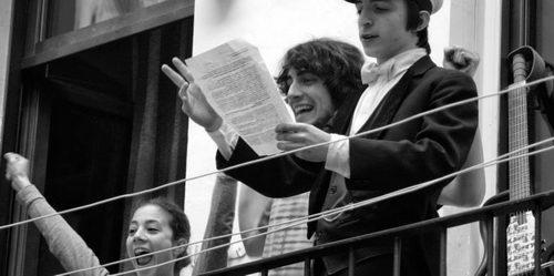 Концерт с балкона в Турине