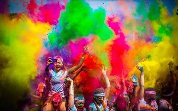 Цветной марафон в Италии Турин
