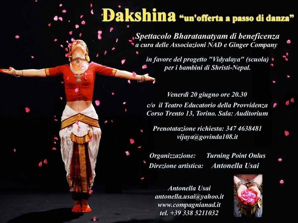 Dakshina un offerta a passo di danza indiana Torino Турин мероприятия июнь 2014 года