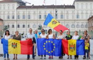 Молдаване Турина отпраздновали подписание ассоциации с ЕС