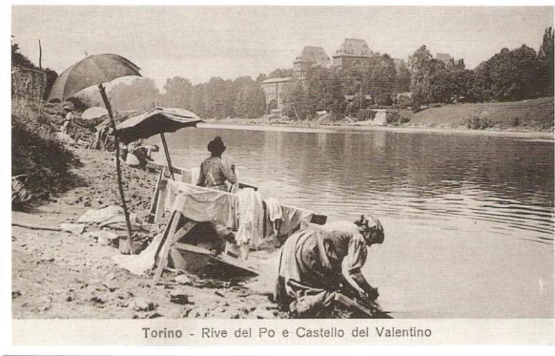 Когда то река по в Турине была с огромными пляжами