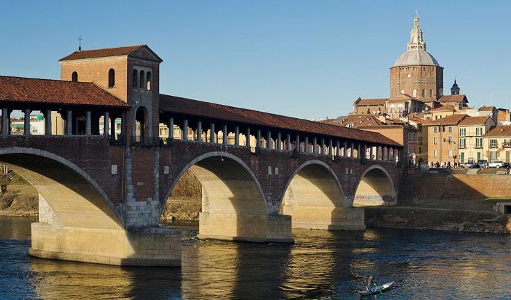 Города северной Италии вблизи Турина и Милана