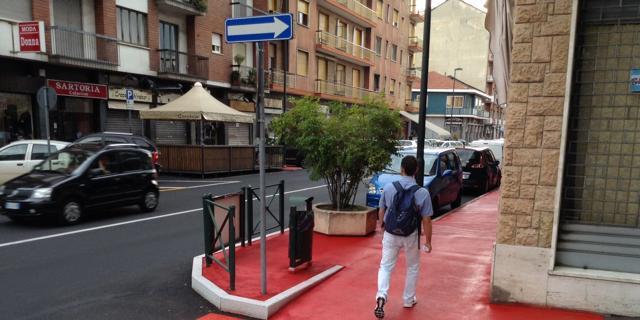 Красные тротуары Турина