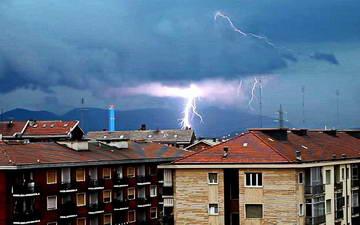 Дождливое лето Турин Италия 2014