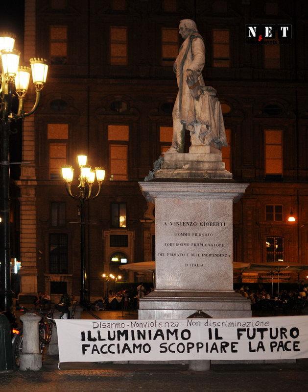 STOP a tutte le guerre nel mondo - Torino piazza Carignano