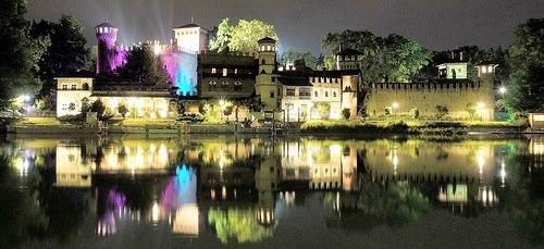 Средневековая крепость в Турине парк Валентино